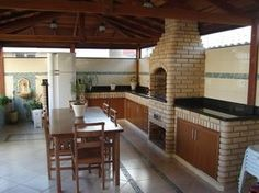 It's a snap to setup and works on all modern browsers. Outdoor Kitchen Patio, Outdoor Living, Adobe Haus, Patio Design, House Design, Brick Cladding, Brick Bbq, Fire Pit Grill, Bbq Grill