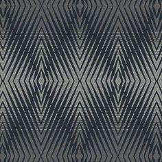 Upholstery Fabric -  Indigo Diamond Abstract Fabric Pattern