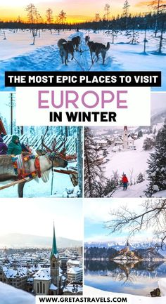 The Most Epic Places to Visit Europe in Winter. Planning a winter trip to Europe? Discover the best European destinations to visit in winter! From awesome skiing resorts to festive Christmas markets, from warm winter sun escapes to stunning snowy landscapes, this Europe winter bucket list has it all! Read on to discover the best European winter destinations. #europe #winter #europeinwinter #europetraveltips European Travel Tips, Europe Travel Guide, European Destination, Backpacking Europe, Travel Guides, Winter Travel, Holiday Travel, Best Places To Travel, Cool Places To Visit