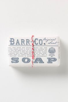 barr co. soap bar, vintage inspired, wrapped in twine
