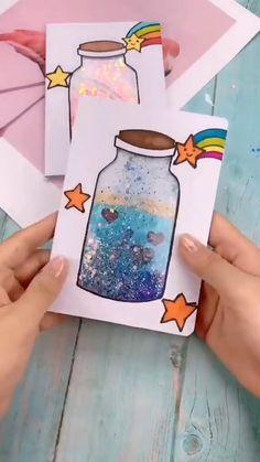 Manualidad Diy Crafts Hacks, Diy Crafts For Gifts, Diy Home Crafts, Cool Paper Crafts, Paper Crafts Origami, Crafts For Kids, Diy Paper, Craft Videos, Kids Videos