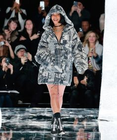 Rihanna at her Fenty X Puma fashion show, February 12, 2016.