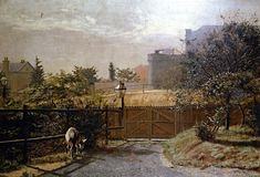 Melbourne Gaol in Sunlight from the Public Library Grounds (Frederick McCubbin - ) 1884 (The gaol was in Russell St., ) Melbourne Australia
