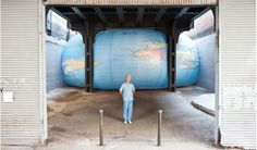 David Byrne - installation under the High Line, New York, 2011