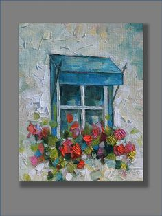 Hey, I found this really awesome Etsy listing at https://www.etsy.com/listing/247978917/floral-painting-red-oil-painting