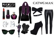 """""""Selina Kyle aka Catwoman"""" by d-luxe ❤ liked on Polyvore featuring Yves Saint Laurent, Helmut Lang, Alaïa, Christian Dior, OPI, NYX, KamaliKulture, Bling Jewelry, Roffe Accessories and Causse"""
