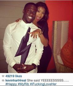Funny Man Kevin Hart Gets Engaged To Eniko Parrish AKA His Rib - http://urbangyal.com/funny-man-kevin-hart-gets-engaged-eniko-parrish-aka-rib/