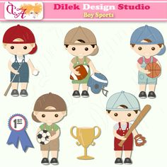5365ab3fda Dilek Boy Sports clipart perfect for your craft project