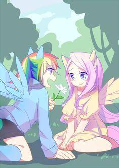 Rainbow Dash x Fluttershy ~`My Little Pony
