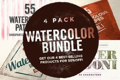 Watercolor Bundle by RuleByArt on @creativemarket