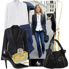 [Dress Like] Jennifer Aniston, created by #lyani on #polyvore. #fashion #style GG 750 French Connection