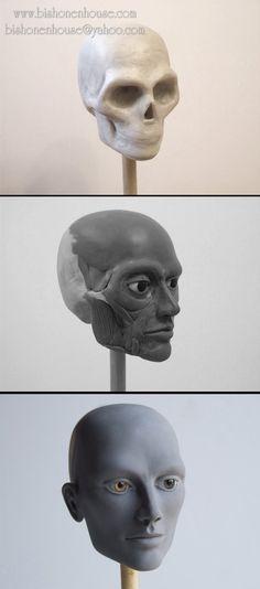 Head Sculpting progress by BishonenHouse on deviantART