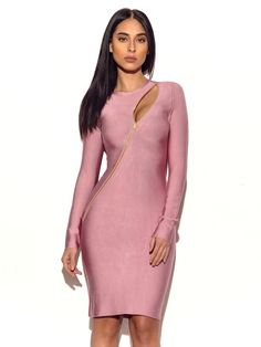 69cbe776fd European Dress, European Fashion, Long Sleeve Bandage Dress, Bodycon Dress, Bandage  Dresses