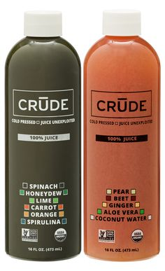 Crude cold pressed juice