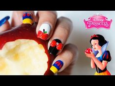 Cute Nail Art, Princesas Disney, White Nails, Nail Designs, Youtube, Bling Nails, Snow White, Seven Dwarfs, Party