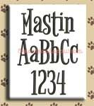 Mastin Embroidery Design Alphabet