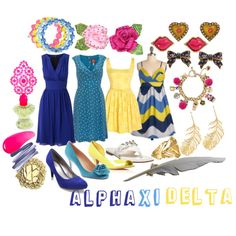 Alpha Xi Delta, created by violetpretty on Polyvore