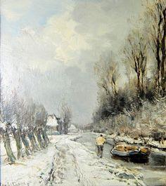 Louis Apol - Trekvaart in de sneeuw