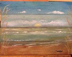 beach landscape art
