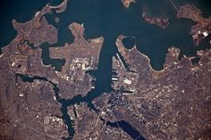 Boston Close Up photographed from the International Space Station 12:28 GMT March 12, 2012 Credit: NASA