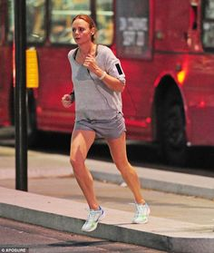 Stella McCartney... green and white trainers from her very own collection - adidas by Stella McCartney..
