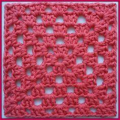 Karin aan de haak: Patroon Granny Square (1 kleur)