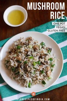 Mushroom Rice Recipe with step by step photos. This is an easy and quick recipe of mushroom rice made in european style. Mushroom Recipes Indian, Mushroom Dish, Indian Food Recipes, Asian Recipes, Healthy Recipes, Healthy Meals, Free Recipes, Vegetarian Breakfast Recipes, Vegetarian Lunch