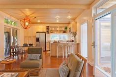 LivingHomes C6 unit. Gorgeous pre fab home that is completely green and over 1,200 sq feet. IN LOVE!!