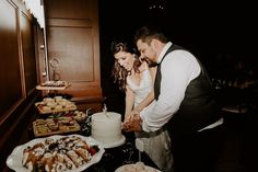This couple opted for a larger dessert table with a display of several different treats for their guests. In the center, they still cut their own mini cake and got this cute photo opp! | Villa Siena | Kylee Patterson Photography | #Villasiena #weddingvenue #gilbertarizona #arizonaweddings #arizonaweddingvenue #desserttable #weddingcake #brideandgroom #weddingphotomoments #cakecutting Photography Articles, Photography Ideas, Arizona Wedding, Cute Photos, Mini Cakes, Siena, Dessert Table, Wedding Events, Larger