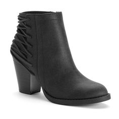 Candie's® Women's Laced-Back Ankle Boots, Girl's, Size: