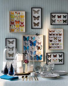 The Butterfly Project : How to add personality to your home with DIY butterfly frames. – The Interior Perspective Schmetterlinge ect. The Butterfly Project : How to add personality to your home with DIY butterfly frames. – The Interior Perspective Butterfly Project, Butterfly Decorations, Butterfly Frame, Table Decorations, Studio Interior, Home Interior Design, Cafe Interior, Luxury Interior, Interior Styling
