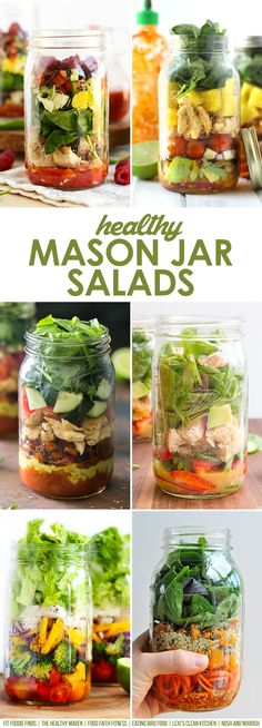Thai Chopped Chicken Mason Jar Salad with Chili Vinaigrette - Lexi's Clean Kitchen