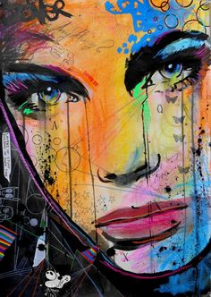 """""""anything,"""" abstract colorful painting by artist Loui Jover available at Saatchi Art   FInd more portraiture here: http://www.saatchiart.com/art-collection/Painting-Photography-Collage/Faceless-Portraits/782019/104084/view"""