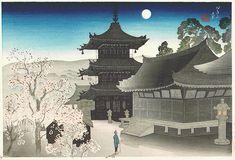 """Kiyomizu Temple on a Spring Night"" by Suizan Miki"