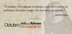 REDE MISSIONÁRIA: MÊS DA REFORMA PROTESTANTE: DIA 30