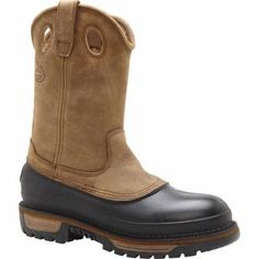 Georgia Boot Muddog Steel Toe Wellington Boot -- these are like a wellie and a work boot in one!