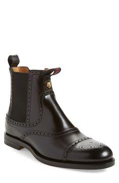 Gucci 'Monsieur' Cap Toe Chelsea Boot (Men)