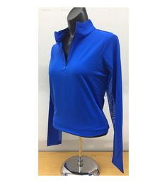 Spring is here!  Our latest women's golf clothing arrival....  http://www.fromtheredtees.net/products/blue-long-sleeve-zip-mock-neck?utm_campaign=social_autopilot&utm_source=pin&utm_medium=pin