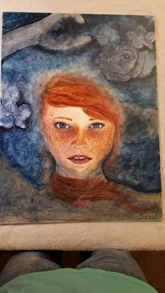 """""""Lovelorn"""" watercolor on clay by Timothy Jozef #watercolor #femaleportrait #art #paintings #artist"""