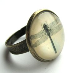 Vintage Dragonfly Ring by rubyspiritdesigns on Etsy, £9.00