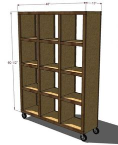 Rolling Room Divider Cubbies, Plan By Ana White. Only Chnage I Would Make  Is To The Bottom. Iu0027d Use Ply Across The Entire Surface Instead Of Those  Narrow ...
