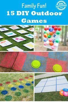 15 DIY Outdoor Games - backyard fun for summer!