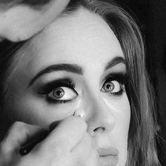 Adele in make-up