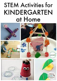 Adding STEM (science, technology, engineering, math) activities to your kindergarten (or any grade!) lesson plans is a great way to include hands-on learning fun into your week! Perfect for homeschool or for kids doing any kind of learning at home. Educational Activities For Preschoolers, Fun Activities For Kids, Science For Kids, Science Activities, Cool Science Experiments, Stem Science, Kindergarten Stem, Fun Learning, Kids Crafts