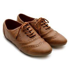 Ollio Women's Classic Dress Oxfords Low Flats Heels Lace Up Brown Shoes Ollio, http://www.amazon.com/dp/B006BB7WEY/ref=cm_sw_r_pi_dp_J6ekqb13RZPQV