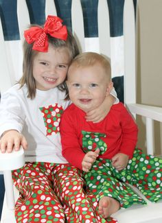Set of 2 Pairs of Personalized Christmas Pajama and Lounge Sets on Etsy 50a1f4c03