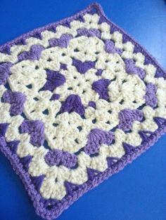 """Lots of Love Afghan 10"""" Block ~ free pattern"""