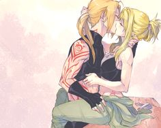 Pride!Ed x Winry by rboz adorable! Except for the fact that Ed has a Homunculous tattoo.....