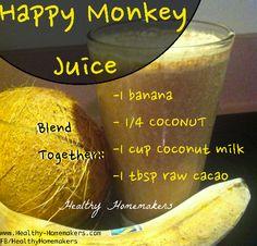 Happy Monkey Juice via @Healthy.com Homemakers/ #banana #smoothie #coconut #caco #recipe