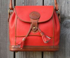 Vintage Dooney & Bourke Red Leather by brainstormvintage on Etsy